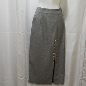 Houndstooth long skirt Size 9/10